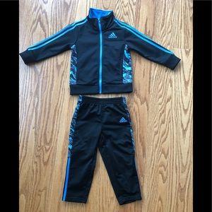 Toddler Boy Adidas Set - Blue Camo - Like New!